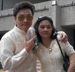 Marvin Al Samaco with mum